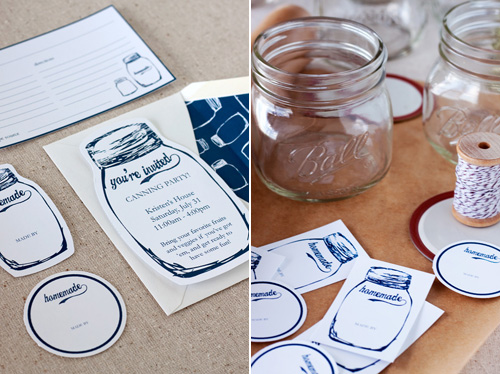 Canning Party Printables