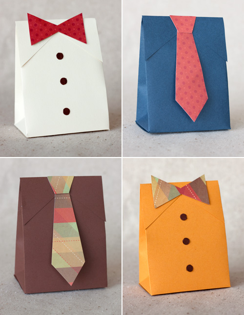 DIY Shirt & Tie Gift Boxes