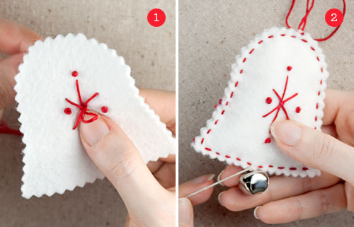 How to Make Felt Bell Ornaments