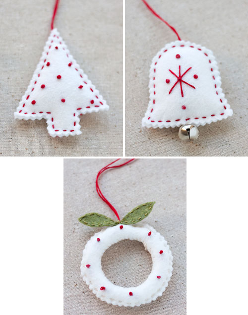 How to Make Felt Holiday Ornaments