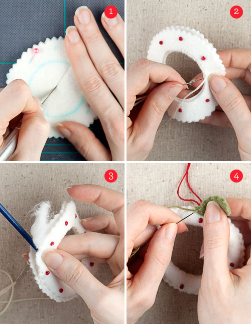 christmas crafts: felt holiday ornaments + free ornament templates