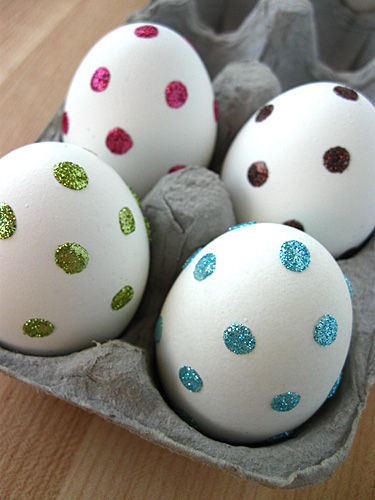 Sparkly Dotted Easter Eggs
