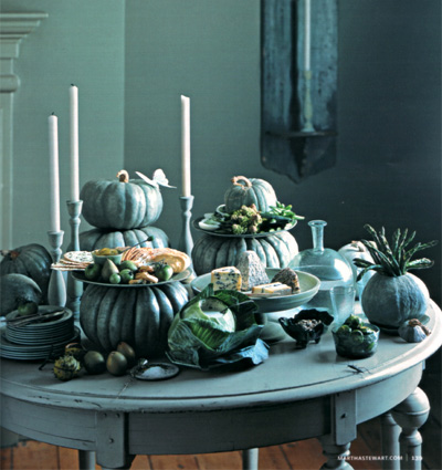 Blue and Gray Pumpkins