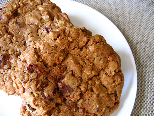 Oatmeal Chocolate Chunk Cookies with Pecans and Dried Cranberries