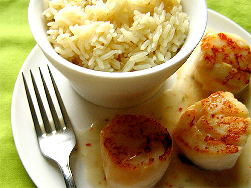 Scallops with Coconut Sauce
