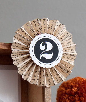 Book Page Medallion Craft