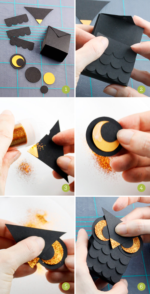 How to Make a Mini Owl Treat Box Best Halloween Paper Crafts 2011