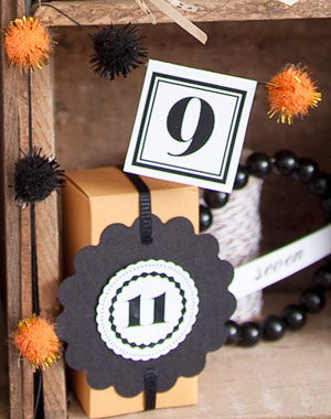 Mini Halloween Pom Pom Garland
