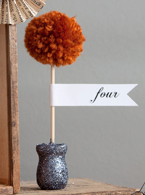 Mini Pom Pom Topiary
