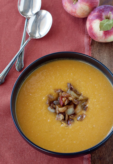 Roasted Butternut Squash & Apple Soup with Balsamic Apple & Onion ...